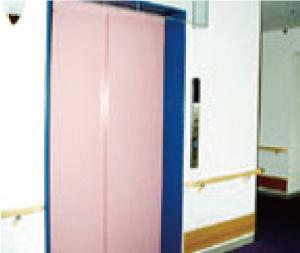 寝台車対応エレベーター各階色識別対応